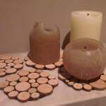 Onderzetter houten plankjes