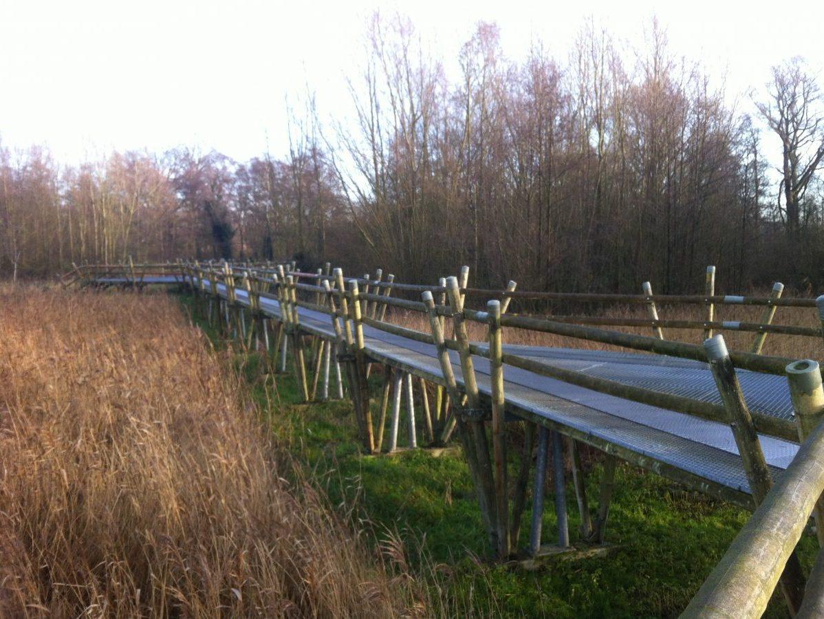 Bamboebrug op het Pelgrimspad