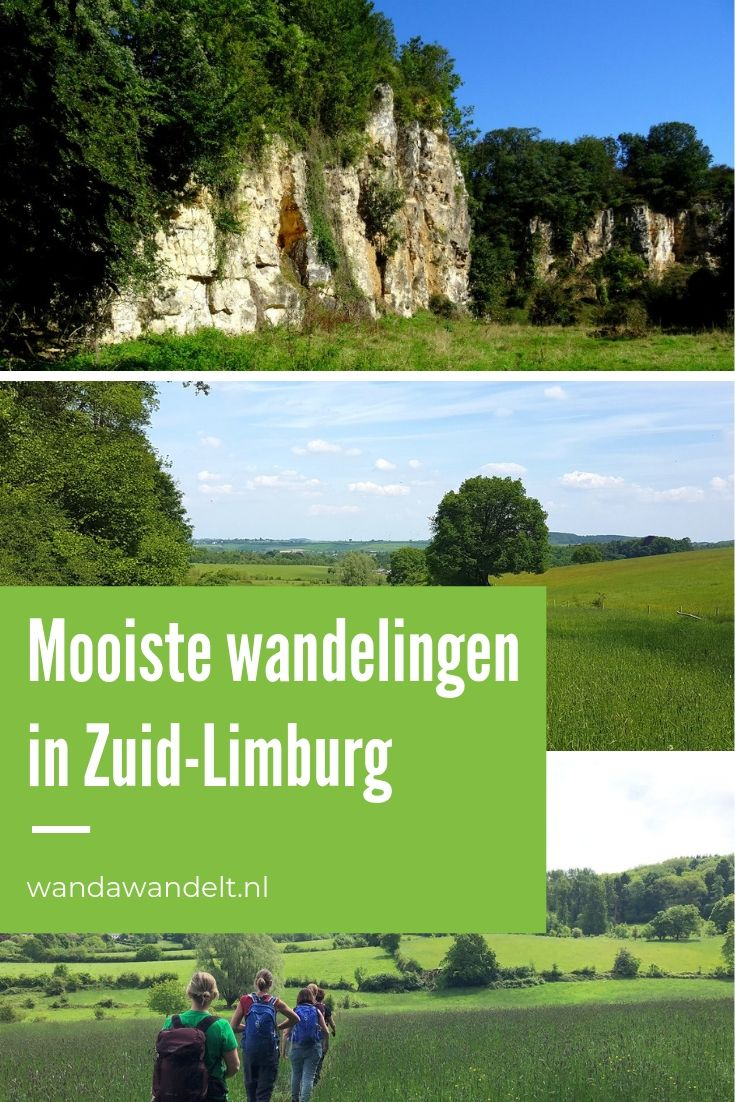 pinterest afbeelding wandelroutes in zuid-limburg met drie afbeeldingen met uitzichten over het heuvellandschap